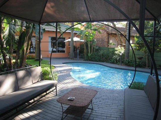 Bavaria Guest Lodge: The subtropical garden and pool