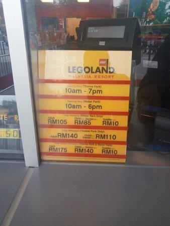 Legoland Malaysia: Ticket Pricing