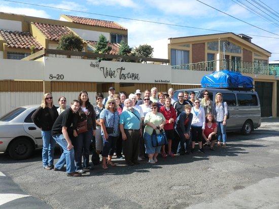 Hostal Villa Toscana: Missionary group