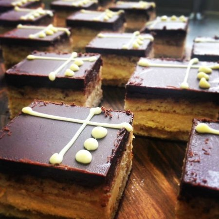 Stables Kitchen: Coffee and almond opera cake