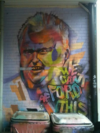 Kensington Market and Spadina Avenue: Rob Ford graffiti