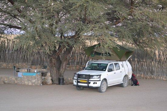 أجاما ريفر كامب: Agama kampplaats