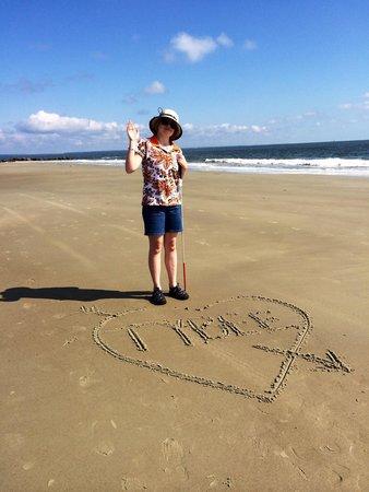 North Beach: Waving hello .... Wish you were here on Tybee Island!