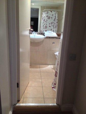 Garden View Hotel : Decent sized bathroom, small shower