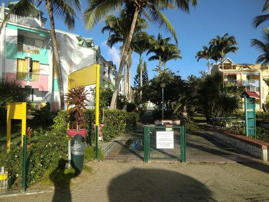 Hotel-Residence Canella Beach: Vue de la plage ver l'hôtel