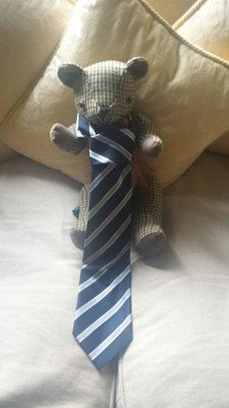 ريلستون مانور هوتل: Teddy up to mischief on our return :)