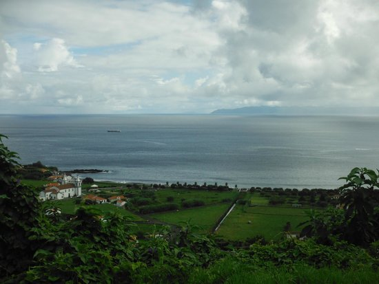 O Cagarro: Looking over the village, with O Cagarro just beyond the church
