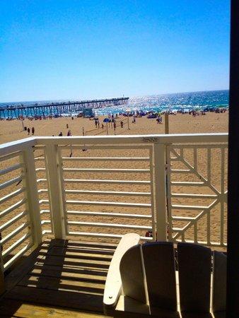 Beach House Hotel Hermosa Beach: View of Beach from balcony