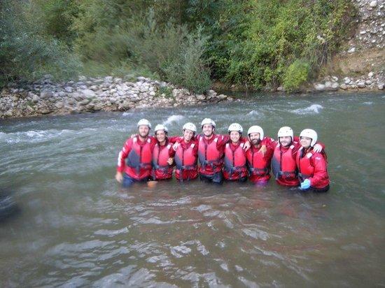 Centro Rafting di Campobase: foto di gruppo