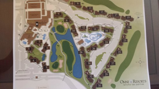 The Map Picture Of Omni Rancho Las Palmas Resort Amp Spa