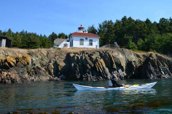 Anacortes Kayak Tours: An old lighthouse on Burrow's Island