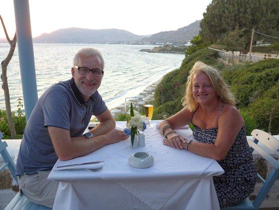 Philosophia Beach Restaurant: Me and hubby celebrating our 24th wedding anniversary/
