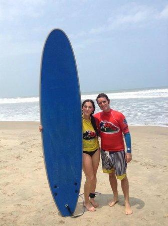 Mr Brights Surf School: Brett and I