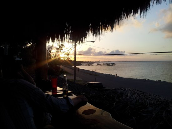 Noah's Ark Bar & Grill: Sunset From Our Upstairs Palapa Bar!
