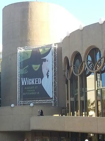 San Jose Center for the Performing Arts: Wicked marquee outside SJCPA 9/14/14