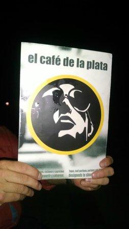 El Cafe de la Plata: The menu