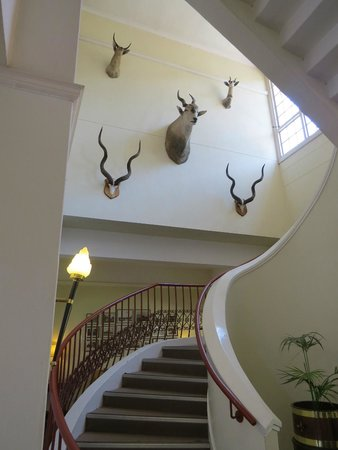 The Victoria Falls Hotel: going upstairs