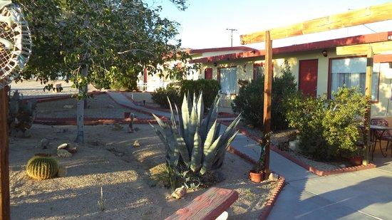 Harmony Motel : Motel Courtyard