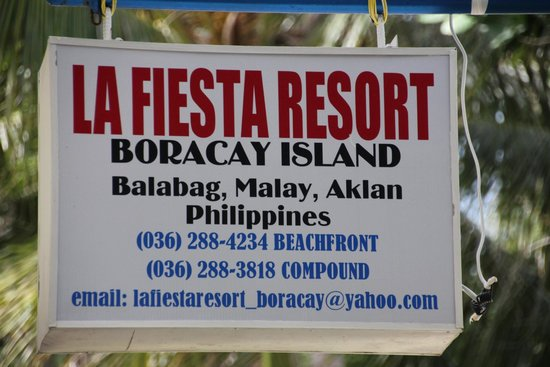 La Fiesta Resort: La fiesta sign