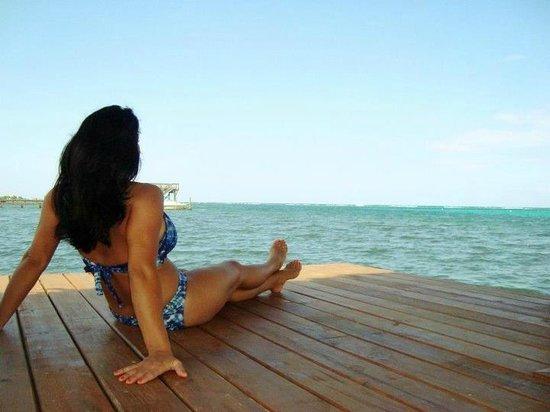Me on Spa Baan Suerte's dock