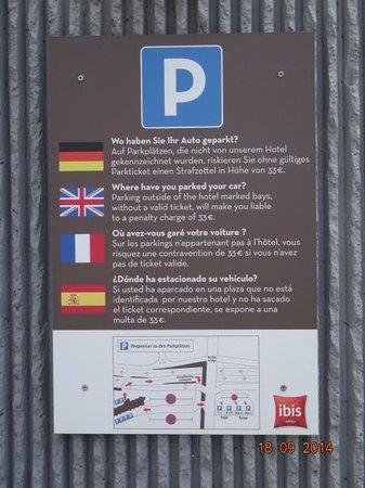 Ibis Heidelberg Hauptbahnhof: Informação sobre estacionamento Ibis Heidelberg