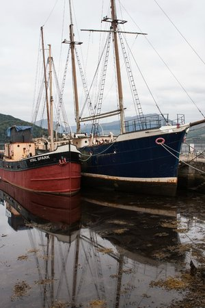 Inverary Maritime Centre: Boats in harbor, part of the maritime center.