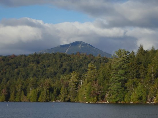 Brewster Peninsula Nature Trails: Whiteface Mtn from Lakeshore trail