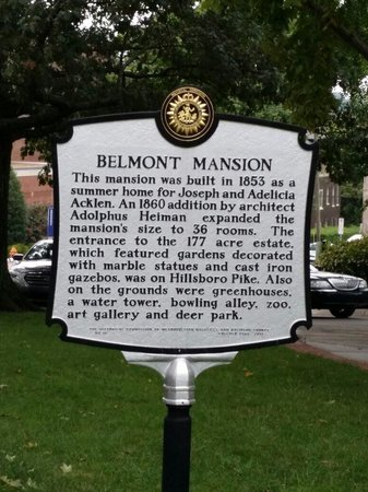 Belmont Mansion : In front of mansion