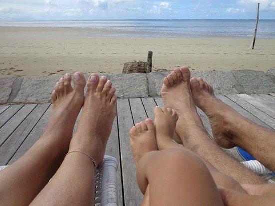 Karapitangui Praia Hotel: No deck de frente para o mar