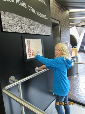 Royal Canadian Mint : Looking at the exhibits.