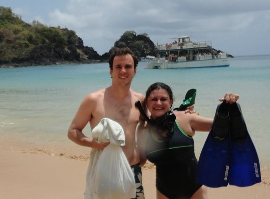 Baia do Sancho: Com Fernando Gandolfo (veio a óbito dois dias depois, em um mergulho-batismo na ilha)