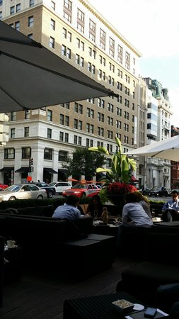 Sofitel Washington DC: A great place to enjoy a beer and watch the city go by