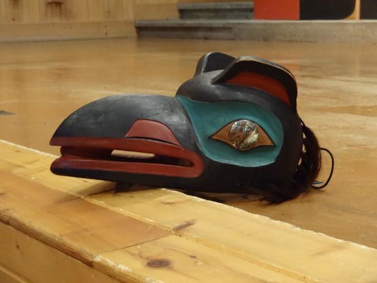 Sitka Tribe Dance Performances: Mask of one of the dancers