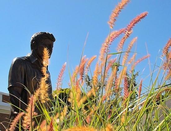 John F Kennedy Hyannis Museum: JFK statue outside