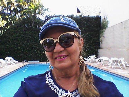 Foz Presidente Hotel: esta foto foi  na piscina   do hotel foz presidente
