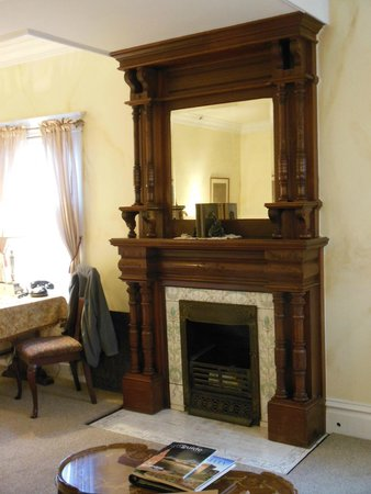Churchill Manor Bed and Breakfast: Fireplace in Stag's Leap