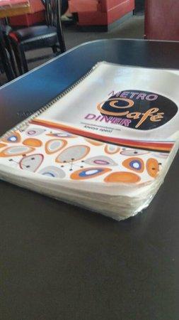 Metro Cafe Diner: Ratty menu should be a clue