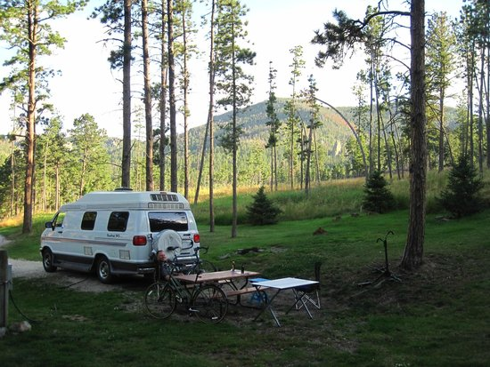 Horse Thief Campground and RV Resort: behind campsite 60