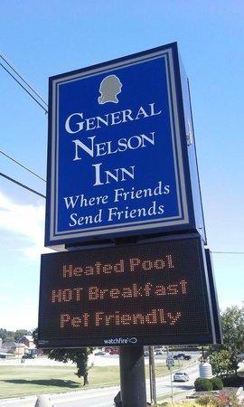 General Nelson Inn: The sign