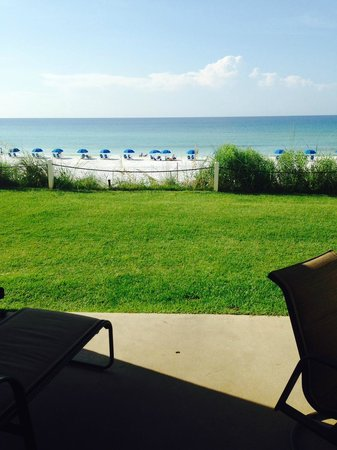 The Beach House Condominiums: view from the patio