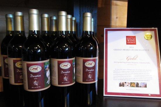 Spoiled Dog Winery: Wine on the shelf