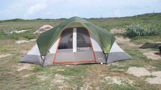 IB Magee Beach Park: condo mondo tent at beach