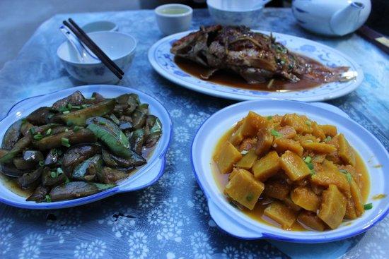 Brook Hotel: Dinner: pumpkin, eggplant, carp