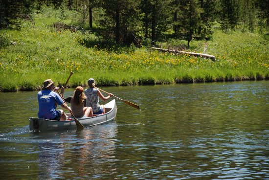 Island Park, ID: Canoeing on the Buffalo River launched from the property