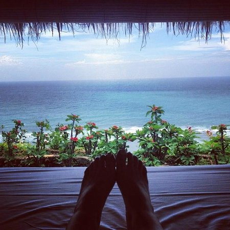 Mu Bali : View from bed - Isha