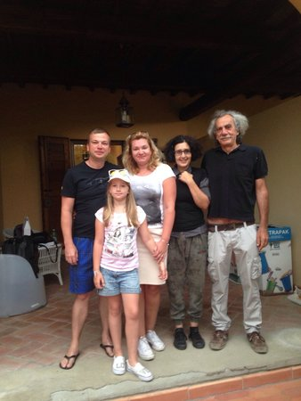 A Casa di Olivo: my family and owners Саsa de Oliva, July 2014