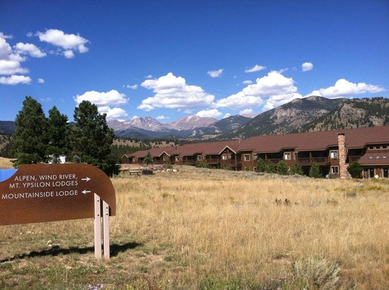 YMCA of the Rockies: View of Wind River - the side that does not face parking lot