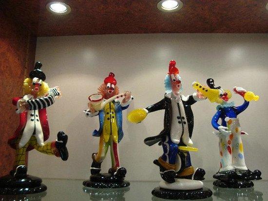 Vecchia Murano : Glass clowns
