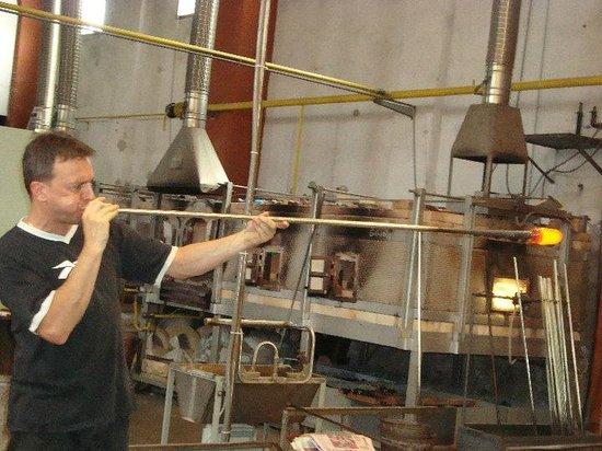 Vecchia Murano : glass blowing