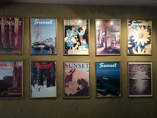 Sunset Magazine Headquarters and Gardens : Magazine covers from all the decades!